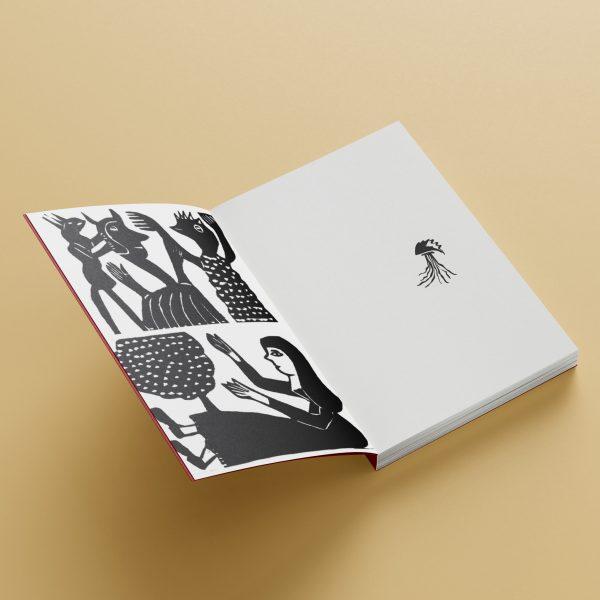 Mockup do miolo do livro No cravo e na ferradura
