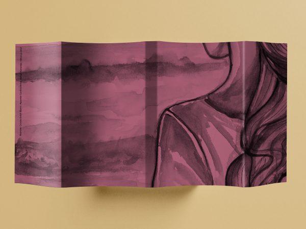 Mockup da sobrecapa ilustrada do livro Polaroids