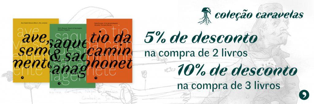 Coleção Caravelas 5% de desconto na compra de 2 livros e 10% de desconto na compra de 3 livros
